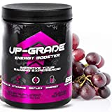 UP-GRADE - Gaming Booster , Energy Drink Pulver - Polvo de Cafeína para una Mayor Concentración en los E-Sports - 600 g 60 Porciones (Red Grape)