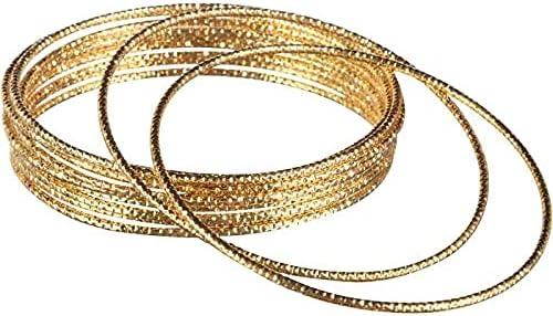 Gold Bangle Bracelets | 1 Set
