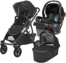 2018 UPPABaby Vista Stroller - Jake (Black/Carbon/Black Leather) + MESA- Jake (Black)