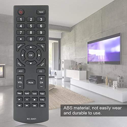 Heayzoki Remplacement de la télécommande du téléviseur, télécommande de Remplacement de la télécommande Durable pour SEIKI LED TV RC-SA01, pour télécommande de télévision SEIKI avec Longue Distance
