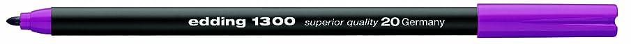 Edding e-1300 Pack of 5 Felt-Tip Pens with 3 mm Bullet Tips, Magenta