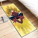 Kele Tapis Enfants Jaune Spiderman créatif rectangulaire Chambre Chevet Tapis Doux Salle de Bain Cuisine Tapis de Porte 60 * 180 cm