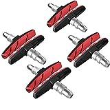 Pastillas de freno V-Brake 4 pares de 70 mm simétricas I para Shimano, Tektro, Avid, Clarks, Contec, Sram, XLC potencia de frenado, pastillas de freno para bicicleta