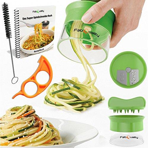 Cortador en espiral, manual, para hacer espaguetis de verduras y