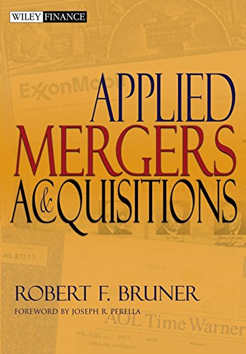 Download Applied Mergers and Acquisitions (Wiley Finance) 0471395056