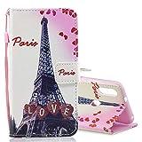 GGAOXINGGAO Téléphone Portable Housse de Protection Étui en Cuir à Rabat Horizontal Love Tower...