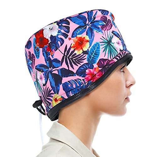 SPTHTHHPY Bonnet Chauffant pour Soins Capillaires, Bonnet Chauffant Cheveux Micro Onde, Bonnet Soin Cheveux pour Tous Types et Textures de Cheveux