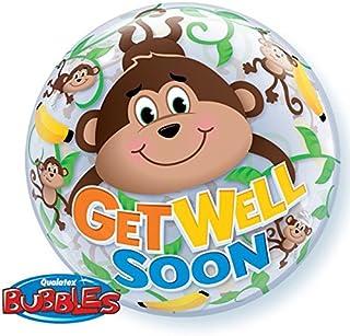 Qualatex Get Well Soon Monkeys 22 Inch Bubble Balloon