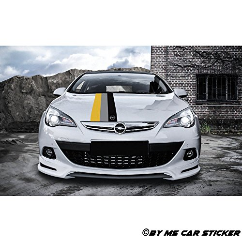 Generic Opel Motorsport Performance Zier Streifen Auto Aufkleber Sticker Tattoo Folie Decor Set1 (3er Set glänzend)