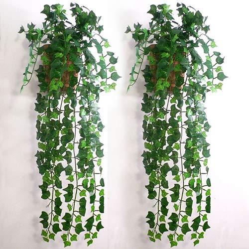 JujubeZAO Fiore Artificiale Nebbiolina Fiore Artificiale, Decorazioni da parete fai-da-te con foglie artificiali di foglie di g