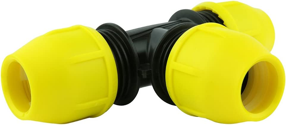 """HOME-FLEX 1/"""" IPS Poly DR 11 to 1 in MIP Underground Yellow Poly Gas Transition"""