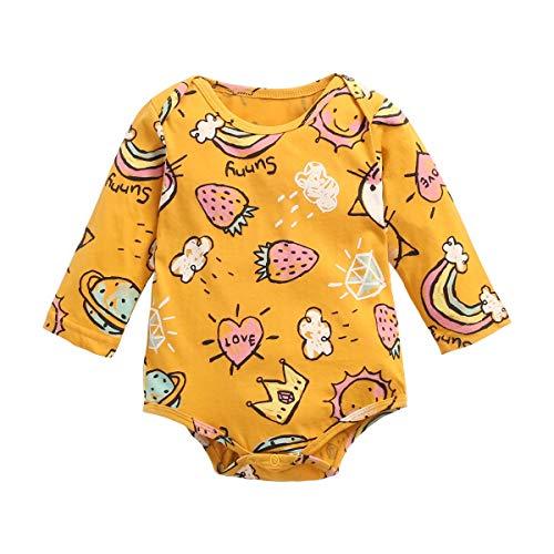 UMore Bebé Mamelucos Pijama Peleles Algodón Niñas Niños Manga larga Monos Sleepsuit Una pieza Ropa 0-24 meses