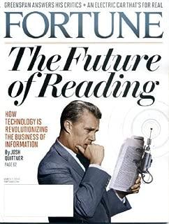 Fortune Magazine (March 1, 2010) The Future of Reading