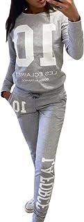 be979bf6219f Moollyfox Donna Tuta da Ginnastica Jogging Tuta Sportiva Fitness Sport  Felpa e Pantaloni