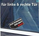 INDIGOS - 2 x Autoaufkleber / Aufkleber verkaufe nix 'Nicht verkaufen - keine Karte - Meine' wirkungsvoller Sticker gegen nervige Autoverkäufer Autohändler für Ihre Autoscheibe
