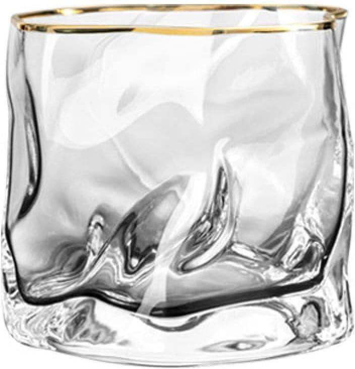 XXIXXV Vidrio creativo copas de vino Nodic Origami Forma Copa de Vidrio Transparente Whisky Inicio Creativo Licor Licores Copa de Vino Copa de Cerveza Negro