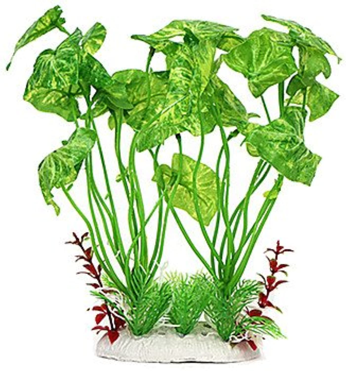 Quick shopping 27cm Green Simulation Plants for Fish Tank Decoration