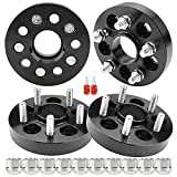 Richeer 5x100mm Hubcentric Wheel Spacers for FR-S BRZ Baja Crosstrek Impreza Outback Forester Legacy, 4 PCS 1 inch 5x100 Tire Spacer with 12x1.25 Studs & 56.1mm Center Bore