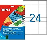 【APLI】マルチA4カラーラベル 24面 レッド (AP-01593)