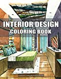 interior design coloring book for adults large print: with inspirational sweet color designs at home, fun room design ideas, & modern decorated ... stress relieving (relaxing coloring book)