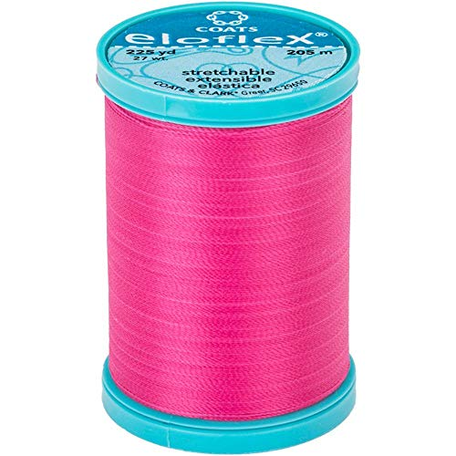 Coats Hot Pink - Eloflex Stretch Thread 225yd