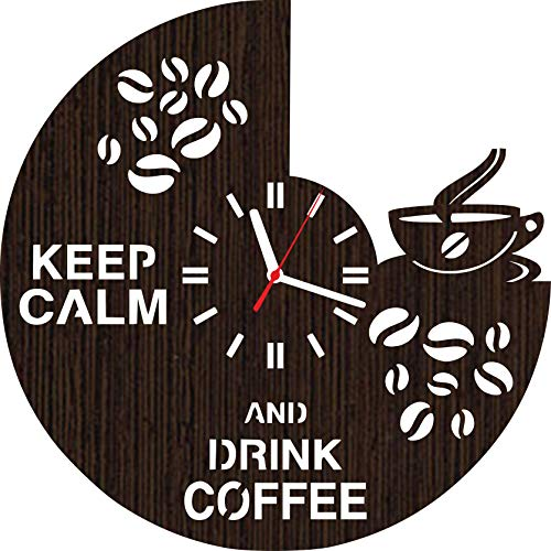 Lovelygift4you Wooden Wall Clock Coffee Home Decorations Art Unique Gifts for Men Women Stuff Merchandise Accessories Birthday Party Christmas