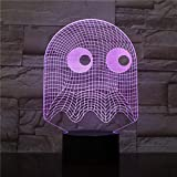 3D Lamp Arcade Game Man Blinky Ghost 3D Night Lamp Table 7 Colors Changing Novelty Lighting Boy Child Kid Gift Pacman Led Nigh Light HKSM007