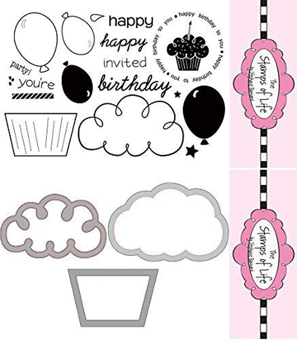 The Stamps of Life Happy Birthday Clear Stamps & Die-Cuts - happybday2you & Cupcake Dies
