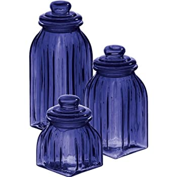 Best blue glass canisters Reviews