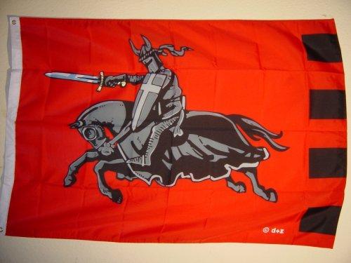 Fahnen Flaggen SCHWARZER RITTER 135 x 90 cm Fahne Flagge