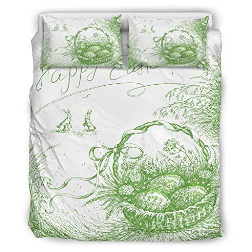 Twelve constellations Juego de edredón suave y ligero para todo el año – 3 piezas para niñas dormitorio blanco 168 x 229 cm