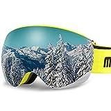 AKASO OTG Ski Goggles, Snowboard Goggles, Mag-Pro Magnetic Interchangeable Lenses, Anti-Fog, 100% UV Protection, Helmet Compatible, Snow Goggles for Men & Women, Free Balaclava Ski Mask Included