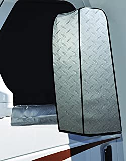 ADCO Silver 2370 Diamond Plated Steel Vinyl RV Side Mirror Socks, Universal, Set of 2, 2 Pack