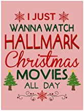 Tobe Yours I Just Wanna Watch Hallmark Christmas Movies All Day Velvet Plush Fleece Feeling Super Soft Cozy Bedroom/Couch/Sofa Throw Blanket 58x80 inch(Large) (Two Sides)