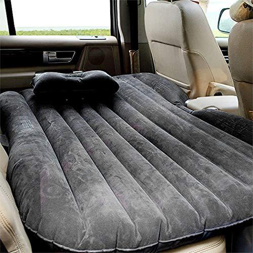 Pujuas luftmatratze Auto Bett Bewegliche Dickere Luftbett Auto Rücksitz Luftbett Autobett aufblasbare Matratze mit elektrischer Luftpumpe und Kissen für Reisen, Camping, Outdoor Aktivitäten usw.