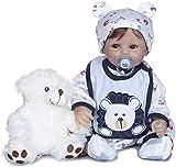 Cuerpo Suave Reborn Baby Boy Set Muñeca Hecha a Mano Silicona Vinilo Suave Toque Suave Recién Nacido Hecho a Mano Regalo de cumpleaños de Navidad Tamaño Real 50CM