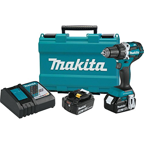 Makita XFD12T 50 Ah 18V LXT LithiumIon Compact Brushless Cordless 1/2quot DriverDrill Kit