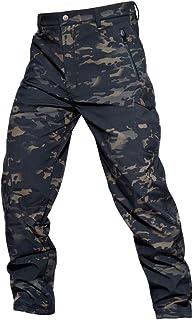 YuanDian Hombre Tactico Camuflaje Softshell Pantalon Forro