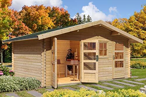 Unbekannt Karibu Woodfeeling Gartenhaus Lagor 2 40 mm 2-Raum-Haus