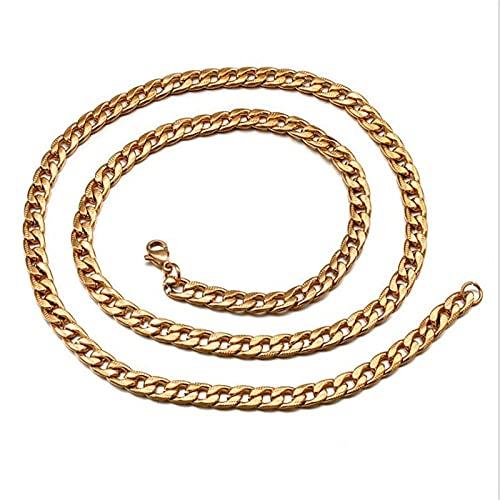 maozuzyy Collar Colgante Joyería Pulsera De Ocio De Moda Collar De Acero De Titanio Acero Inoxidable para Hombre-Dorado