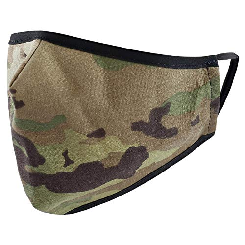 Reusable Washable Military Grade Cotton Blend Cloth Face Cover, Made in USA (OCP Scorpion, 1)
