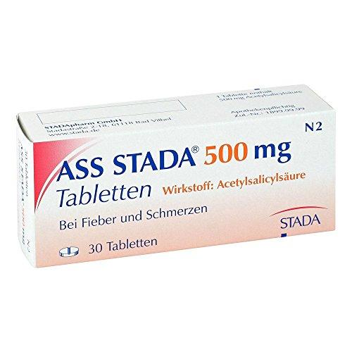 ASS STADA 500 mg Tabletten bei Fieber und Schmerzen, 30 St. Tabletten