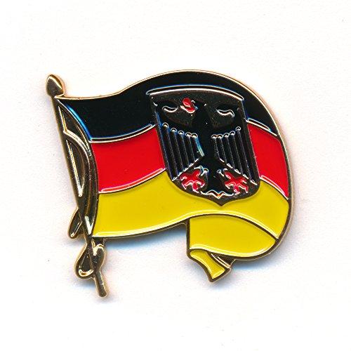 Wehende Deutschland Flagge - Waving Germany Flag Badge - Edel Pin Anstecker 0233