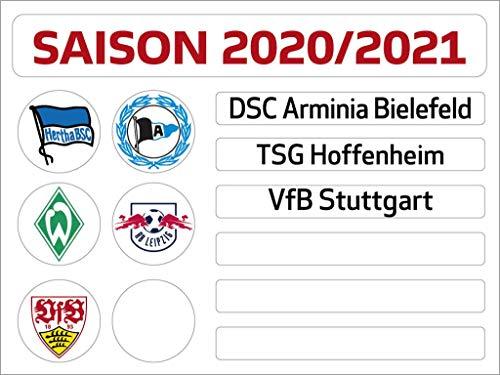 Am Ball Com 1. Bundesliga Magnettabelle - Update-Set (Saison 2020-2021)