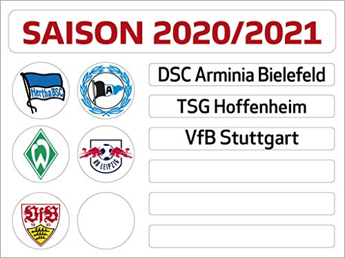 Am Ball Com 1. Bundesliga Magnettabelle - Update-Set (Saison 2020-2021)