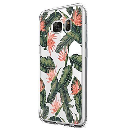 Jeack Hülle Kompatibel mit Samsung Galaxy S7 Hülle, Crystal Clear Handyhülle Ultra Dünn Flexibel Silikon Case Slim Transparent Schutzhülle Tasche case Bumper Cover für Samsung Galaxy S7 (1)