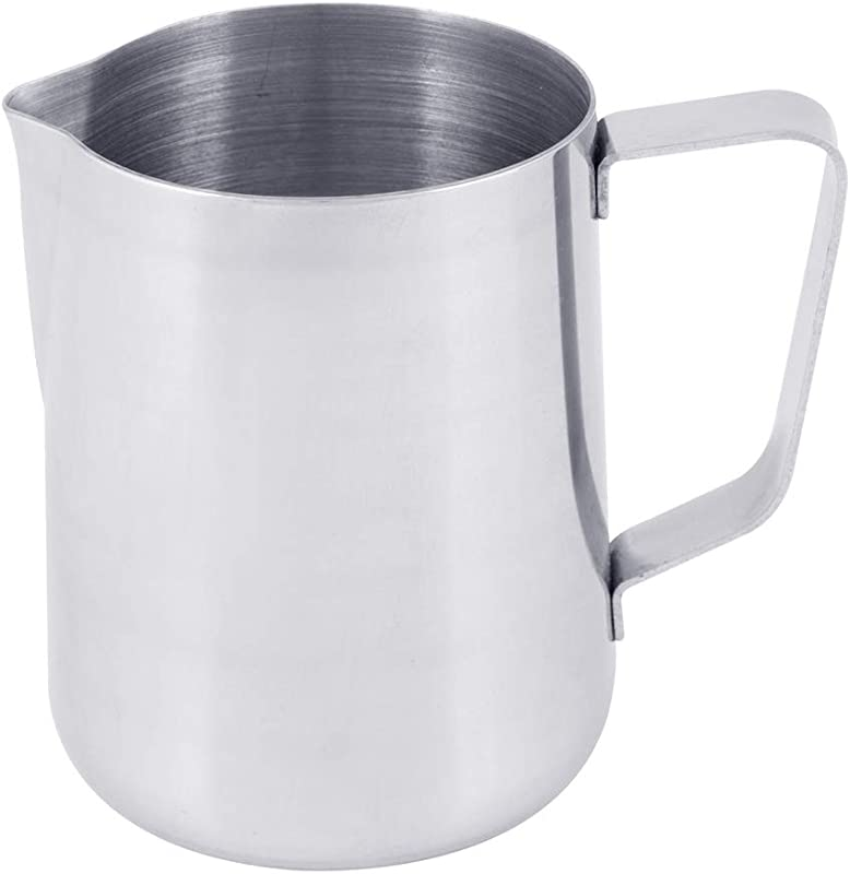 2 Quart Milk Frothing Pitcher 66 Ounce 2000 Ml Extra Large Milk Pitcher By Tezzorio Stainless Steel Milk Steaming Frothing Pitchers For Espresso Machines Milk Frother Latte Art