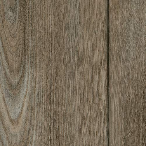 PVC Bodenbelag Landhaus Stil Hellgrau | Vinylboden in 4m Breite & 5m Länge | Fußbodenheizung geeignet | Vinyl Planken strapazierfähig & pflegeleicht | Fußbodenbelag für Gewerbe und Wohnbereich