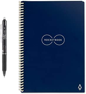 Rocketbook Everlast Smart Reusable Notebook, Executive Size, Midnight Blue, 6