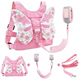 Accmor 3 in 1 Toddler Harness Leashes + Anti Lost Wrist Link, Kids Harness Children Leash for Girls, Child Anti Lost Leash Baby Cute Harness Belt Strap Hold Kids Close While Walking